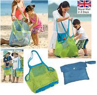 Large/ Small Portable Mesh Sand Away Bath Bag Dredging Pouch Children Beach Bag