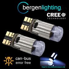2 x W5W T10 501 CANBUS SANS ERREUR Xénon Blanc Cree latéral Répétiteur ampoules
