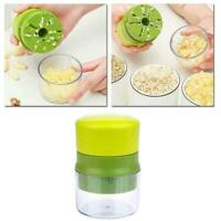 Manual Garlic Press Crusher Squeezer Grinder Masher Tool Kitchen U3Y5