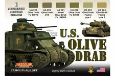 LifeColor CS11 U.S. Olive Drab 6x 22ml carylic Colours