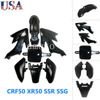 Black Plastic Fender Fairing Kit For Honda CRF50 XR50 SSR Dirt Pit Bike