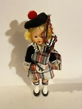 1990s rare vintage scottish colorful cultural Gaelic ethnic doll bag pipe