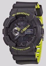 Cyber Monday Deal New G-Shock GA110LN-8A Gray/Neon Green Layered Mens Watch