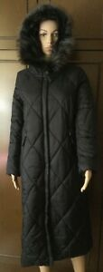Quilted coat with fur trimmed hood MAX&Co. Woman, black color, size 42 Imbottito