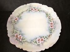 Haviland Limoges 13 inch Serving Plate with Pink Flowers