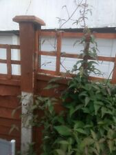 concrete fence post extender and fence height extender for trellis