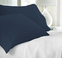 Pack Of 2 Light Grey 100/% Egyptian Cotton Pillowcases 800 Tc Egyptian Quality