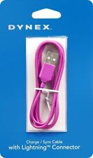Brand New PINK Dynex 3 Ft Lightning USB Connector Charge Sync Data Apple Cable