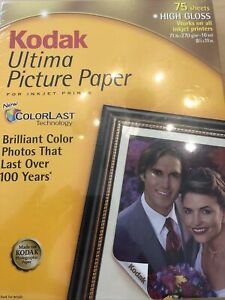 KODAK Ultima Picture Paper High Gloss 75 Count 8.5x11 in Sheets