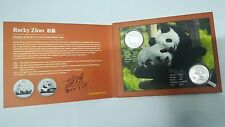 2011 & 2014 China 1 oz Silver Panda W/Limited Coin Designer Autographed Booklet