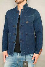 G-Star Jeans Sakko A Crotch Sweat 3D Cropped Blazer Gr.L DK Aged Indigo Jog New