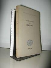 OPERE DI FRANCESCO VI - SAGGIO CRITICO SUL PETRARCA   EINAUDI 1952 INTONSO