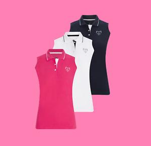 Golf Goddess Wings Sleeveless Ladies Golf Polo - Golf Top - Golf Shirt