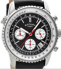 Rotary Mens Chronograph Leather Watch GS03448/04