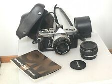 OLYMPUS OM1n MD SLR 35mm Film CAMERA+ZUIKO 50mm f1.8 LENS+SHOE4+TELECONVERTER #3