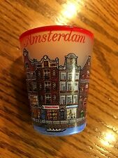 Very Nice Frosted Amsterdam Shot Glass 2 Ounces