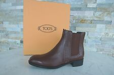 TOD'S Tods Gr 36 Botines Botas Chelsea Boots Zapatos Marrón Nuevo Ehemuvp