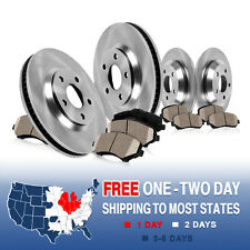 Front and Rear OE Brake Disc Rotors & Ceramic Pads Kit SUBARU IMPREZA RS LEGACY