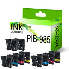 10 Ink Cartridge For DCP-J125 DCP-J140W DCP-J315W DCP-J515W Replace LC985 LC975
