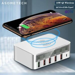 QI Wireless Charger Quick Charge 3.0 USB Charger For Samsung S10 Fast Charger So