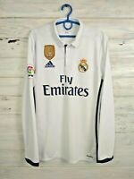 Real Madrid Jersey 2016 2017 Home S Shirt Football Soccer White Adidas AI5184