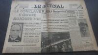 Newspapers The Journal N°16933 Wednesday 1ER Mars 1939 ABE