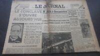 JOURNAUX LE JOURNAL N°16933 MERCREDI 1ER MARS 1939 ABE