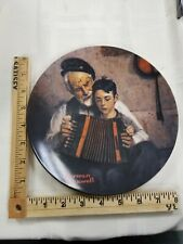"""Norman Rockwell 8 1/2"""" Collector Plate, """"The Music Maker"""""""