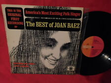 JOAN BAEZ The best of LP 1963 AUSTRALIA VG+ First Pressing MONO