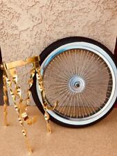 "New 20""in. Lowrider Bicycle Gold Continental Kit with Spare 16"" Wheel and Tire"
