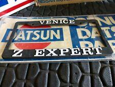 "Vintage Old Classic Datsun License Plate Frame Plastic "" Venice Z Expert"""