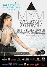 "MIYAVI ""SLAP THE WORLD TOUR 2014"" KUALA LUMPUR CONCERT POSTER- Rock,Pop,R&B,Funk"