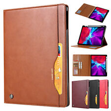 """For iPad Pro 11 2nd 12.9"""" 4th Gen 2020 Leather Wallet Card Slot Stand Case Cover"""