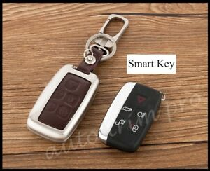 Smart Key Case Fob Holder Cover For Land Rover Discovery4 LR4 Range Rover Velar