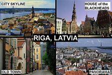 SOUVENIR FRIDGE MAGNET of RIGA LATVIA LIETUVA