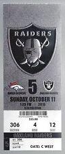 2015 NFL DENVER BRONCOS @ RAIDERS UNUSED FOOTBALL TICKET - SUPER BOWL 50