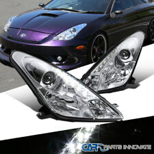 For 00-05 Toyota Celica Clear LED Projector Headlights Head Lamps Replacement