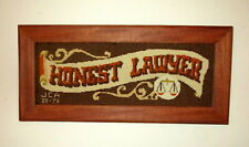 Attorney Lawyer Gift Plaque Wall Hanging Cross Stitch Embroidered Scales Justice