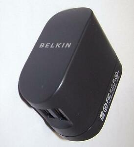 Belkin Dual USB Rotating Wall AC Charger for iPod iPhone Smartphone F8Z240
