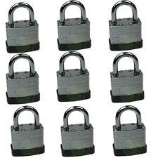 40mm heavy duty laminated padlock keyed alike lock 9pcs