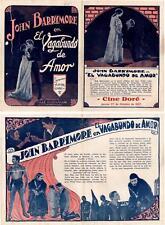 THE BELOVED ROGUE,John Barrymore, Herald,1927