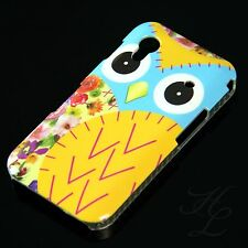 Samsung Galaxy ACE S5830 Hard Handy Case Schutz Hülle Etui Eule Gelb Owl Schale