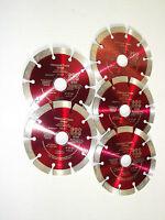 5 Stück 125 mm Diamantscheiben Diamanttrennscheibe Flexscheibe Trennscheibe