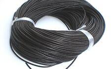 5 m LEDERBAND schwarz 2mm Lederriemen Schnur rund