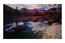 "White Sand Beach-Tahoe,Color Infrared Photo Print 20""x30"" shot on Kodak EIR film"