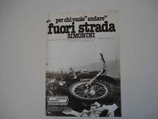 advertising Pubblicità 1977 MOTO SIMONINI CROSS