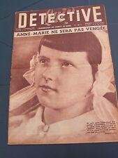 Détective 1955 BURES LES TEMPLIERS TINQUEUX BRETEUIL