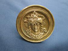 Ornement garniture ronde tête meuble époque Empire ancien bronze dia. 6,1 cm