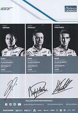 Derani, Priaulx, Tincknell Hand Signed Ford GT Le Mans 2017 Promo Card.