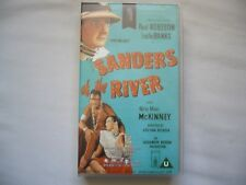 SANDERS OF THE RIVER 1935 VHS PAL Zoltan Korda SMALL BOX TIME CODE PROMO